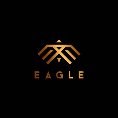 Simple logo design  eagle and letter E  white background -  - Vector.