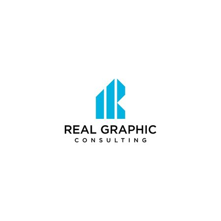 Clean and bold logo design of letter R and graphic or marketing with clear background- EPS10 - Vector.