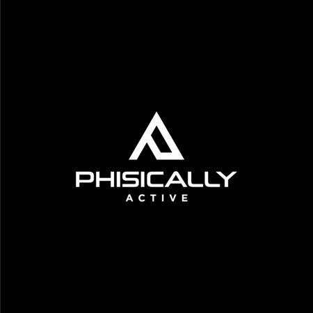 Bold and strong logo design for fitness business with clear background