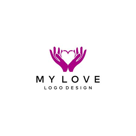 Simple and modern logo design of love on clear background colours - EPS10 - Vector.
