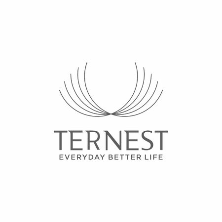 Luxury and minimalist logo design of nest on clear background colours - EPS10 - Vector.