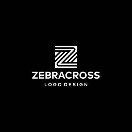 Clean logo design of letter Z with black background - EPS10 - Vector.