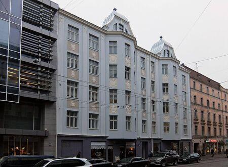 eclecticism: Riga, Terbatas 28, Art Nouveau