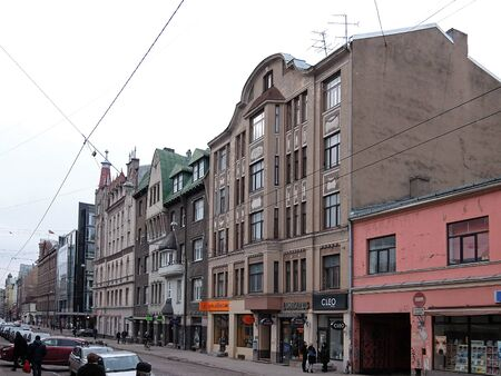 eclecticism: Riga, historic quarter on Terbatas street