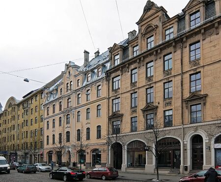 eclecticism: Riga, Terbatas 61-65, the beginning of the 20th century, Art Nouveau and eclecticism
