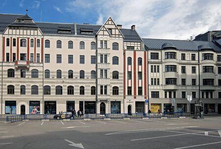 eclecticism: Riga, Brivibas 46 and Dzirnavu 63, Art Nouveau. Architect Constantine Pekshens.
