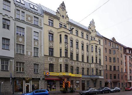 eclecticism: Riga, Matisa street 41-45, Art Nouveau quarter, city landscape
