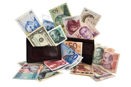 Currency of the world Stock Photo
