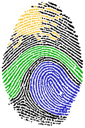 Finger Print - Nature Stock Photo