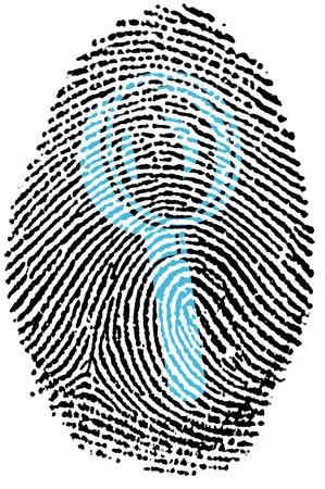 Fingerprint - Magnifying Glass