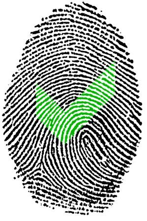 Fingerprint  - Ok Stock Photo - 6924535