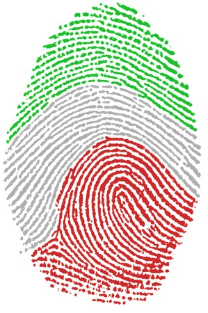 Fingerprint - italy Stock Photo