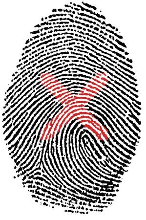 Fingerprint  - negative Stock Photo - 6924543
