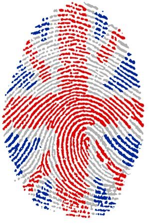 연합 왕국: Fingerprint  - United Kingdom 스톡 사진