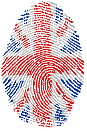 Fingerprint  - United Kingdom Stock Photo