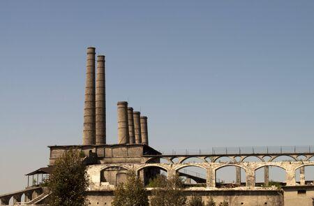 Old abandoned industrial Factory landscape, Bergamo Italy photo