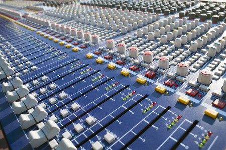 Big Mixer on a stage during a sound check Stock Photo - 7403247