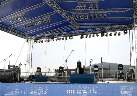 Concert stage before a music performance Stock Photo - 7434783