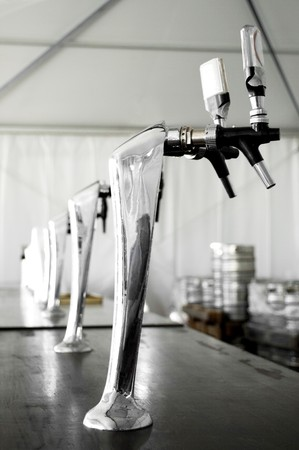 Beer pump in a traditional italian festival