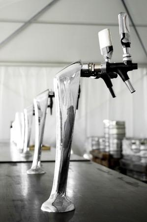 beer pump: Beer pump in a traditional italian festival