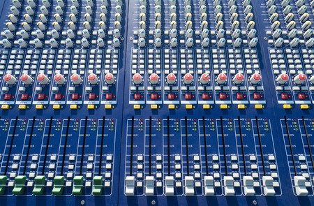 big mixer console in a concert stage Stock Photo - 7434828