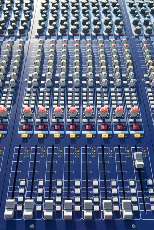 big mixer console in a concert stage Stock Photo - 7434826