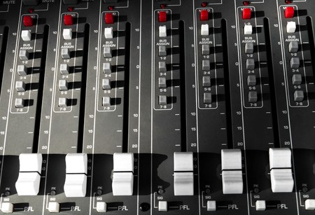 big mixer console in a concert stage Stock Photo - 7434765
