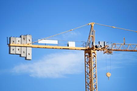 deatil: Big sky crane deatil on blue sky