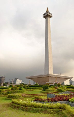 Jakarta National Monument in a public park, Indonesia Stock Photo