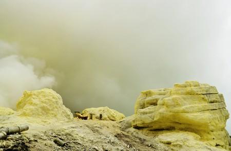 sulfur: Big sulfur mine Stock Photo
