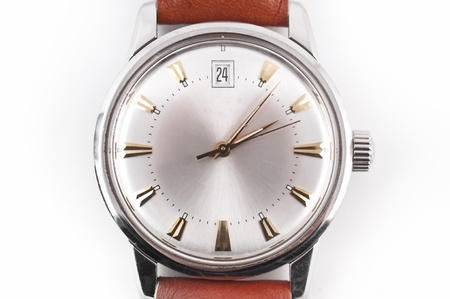 overexposed: close-up of an vintage wristwatch, overexposed