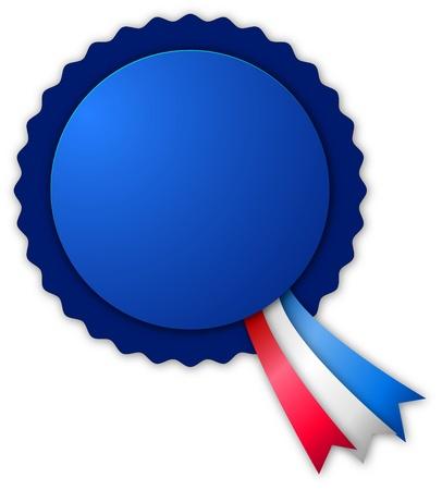 Blue small blank rosette Stock Vector - 9423235