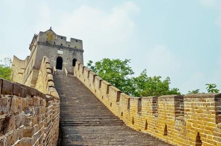 badaling: Sezione di la grande muraglia nel sito mutianyu, Cina