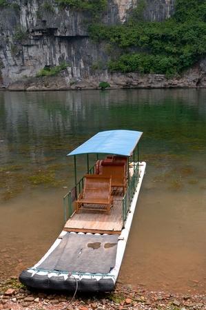 Bamboo raft in Li River, Guilin - Yangshou China Stock Photo - 10678936