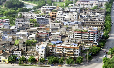 shantytown: Poor district shantytown in chinese city, Guilin