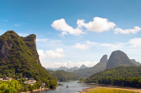 guilin: Li river in Yangshou near Guilin landscape, China Stock Photo