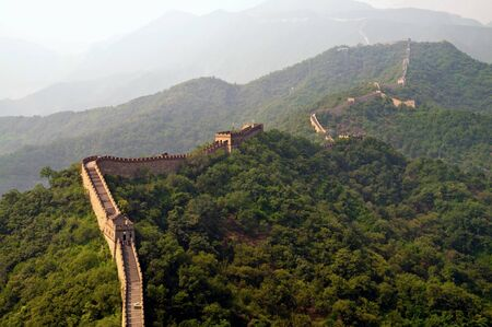 emperor of china: The Great wall view section in Mutianiu near beijing