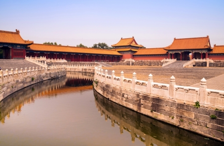 summer palace: Orange canal in Forbidden city, Beijing, China