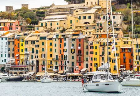 View from the sea of Portovenere harbor, Liguria, Italy Stock Photo - 15775495