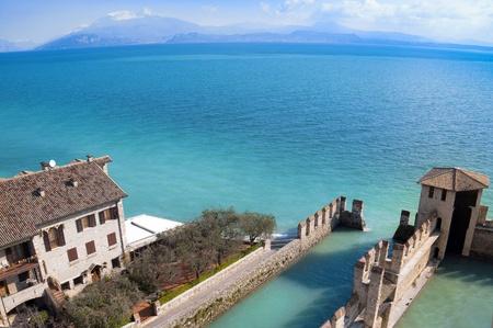 sirmione: Sirmione water Castle on Garda Lake  Editorial