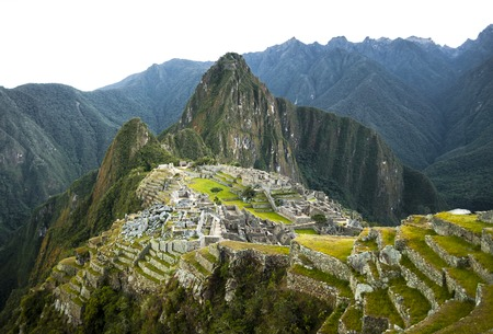 machu picchu: Machu Picchu view in early morning view from above