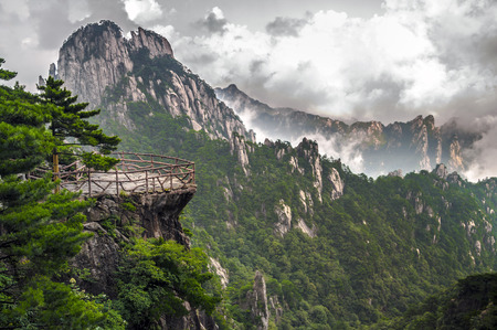 atop: Atop in Yellow sacred mountains Huangshan in China