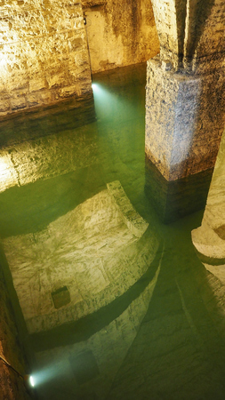 water well: Old historical underground water well in medieval environment