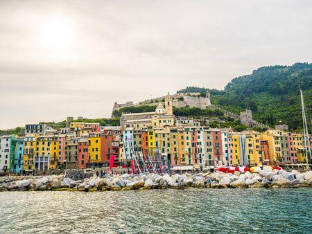 italian village: pictorial Liguria - View of Portovenere, Cinque terre, Italy