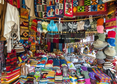 Traditional market in Peru in high altitude highlands