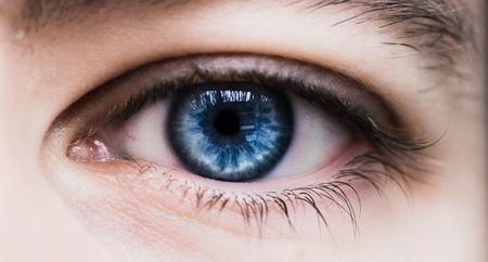 Human blue eye Stock Photo