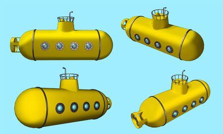 submarino: submarino amarillo