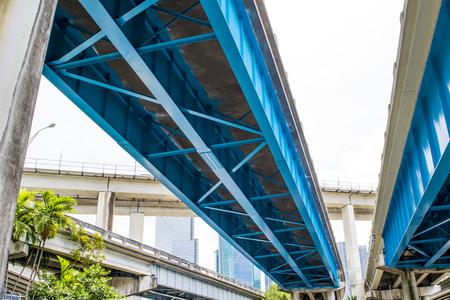 마이애미 시내의 지하철 스톡 콘텐츠
