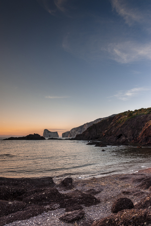 Pan of sugar at sunset on a October day, nebida, sardinia