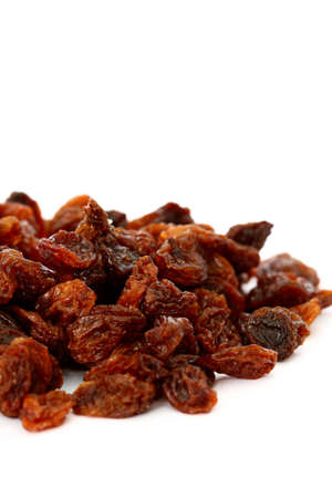 sultanas: Pile of sultanas isolated on white background Stock Photo